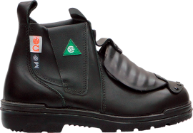 "E5617 Tatra 6"" Black Slip-on Leather Welders Gaiter Safety Boots"